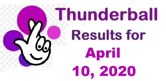 Thunderball Results for Friday, April 10, 2020