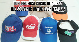 Topi promosi cocok dijadikan ide souvenir untuk event kalian