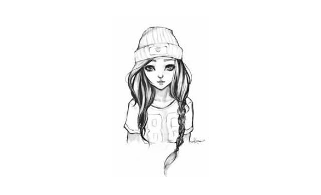 dibujos de chicas faciles a lapiz