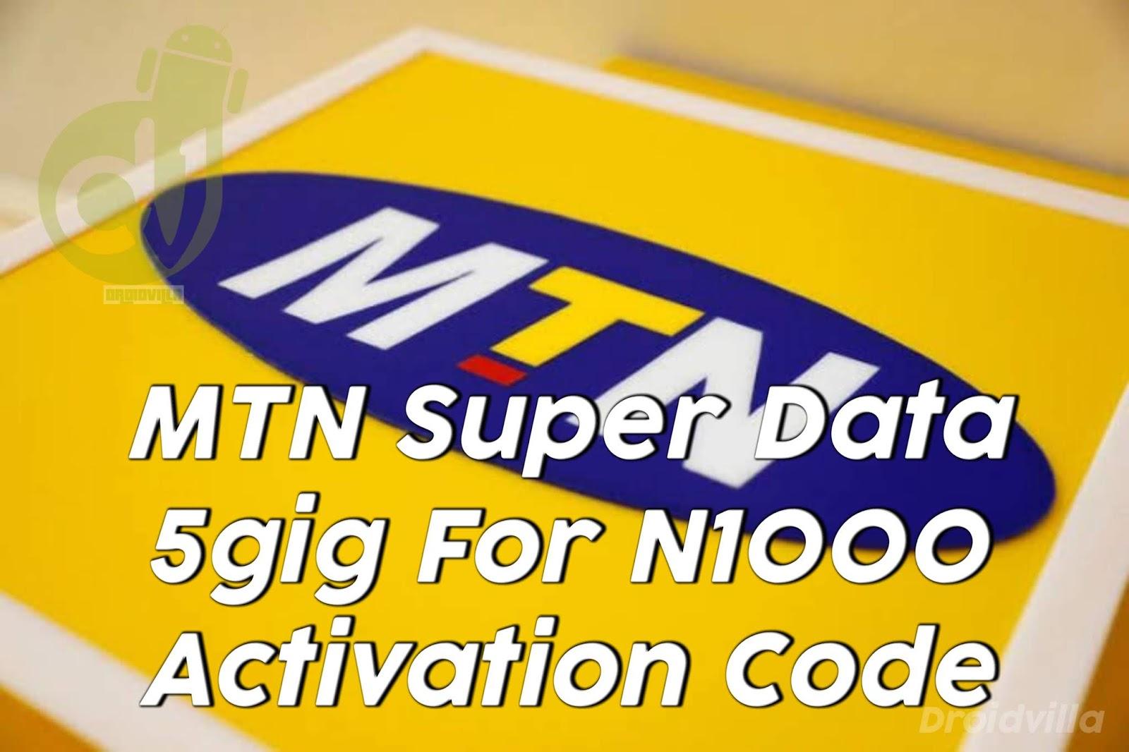 MTN Super data code