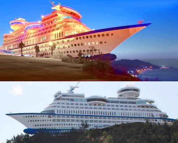 صن كروز المنتجع السفينة في كوريا الجنوبية