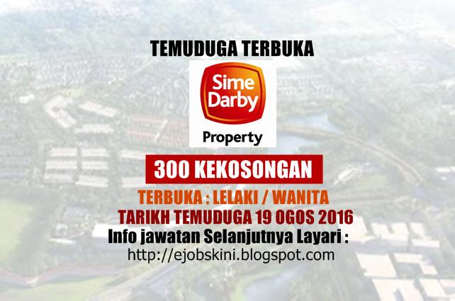 Temuduga Terbuka Sime Darby Property Berhad Pada Ogos 2016