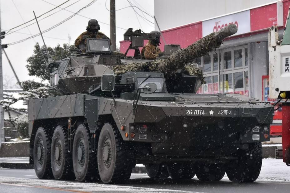Колісний танк з Японії