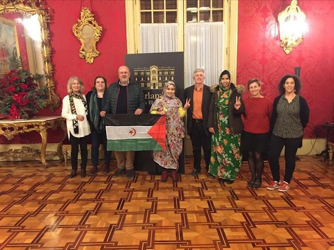 Una delegación de UNMS realiza una visita al Parlament (Mallorca)