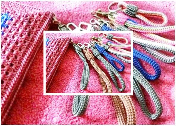 llaveros, cordón tejido, crochet accesorios, diys, manualidades