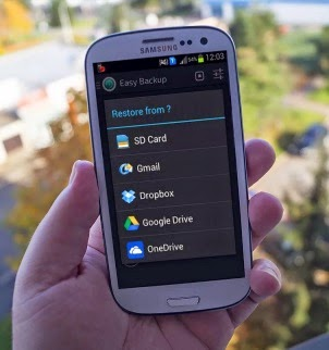 Easy restore and backup Android app