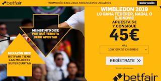 betfair supercuota gana Nadal, Djokovic o Federer wimbledon 2019