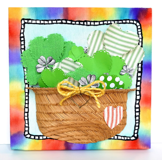 Basket of Shamrocks Rainbow Canvas by Dana Tatar for Canvas Corp Brands