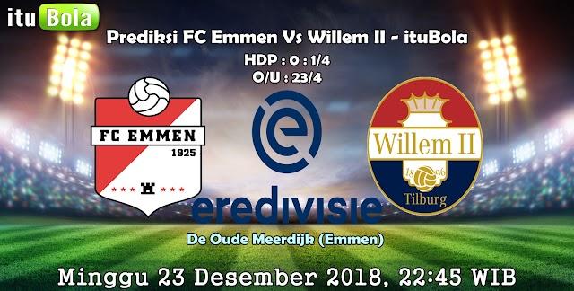 Prediksi FC Emmen Vs Willem II - ituBola