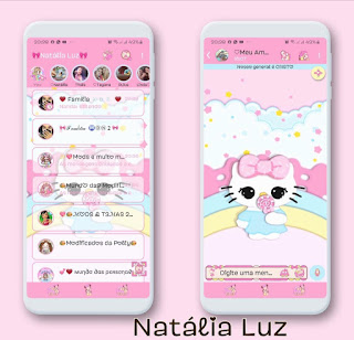 Hello Kitty Rosas Theme For YOWhatsApp & Fouad WhatsApp By Natalia Luz