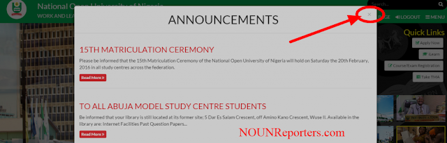 National Open University of Nigeria Annoucement