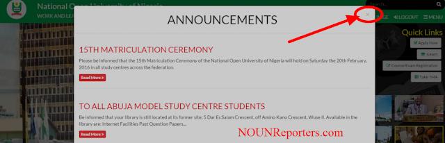 National Open University of Nigeria Annoucement