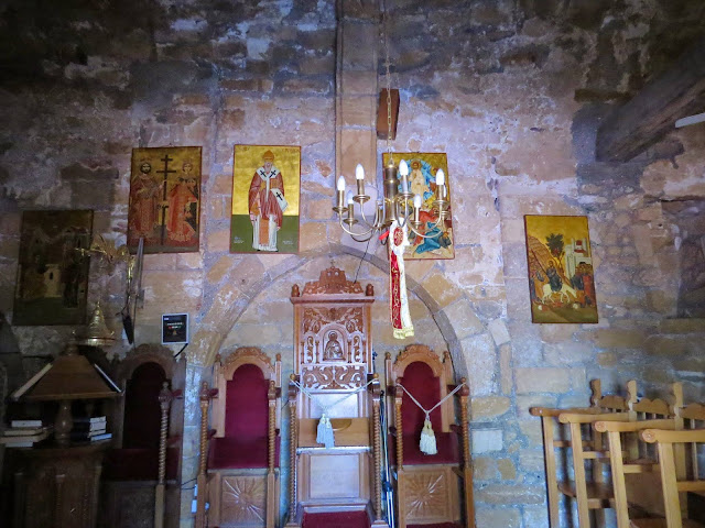 Cyprus Road Trip: Inside the chapel at St. Nicholas of the Cats