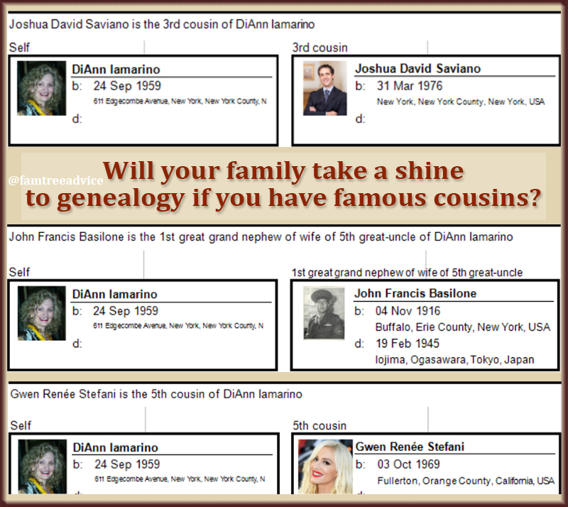 A little fame and fortune may stir new interest in your family tree.