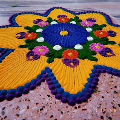 Simple and Easy Rangoli for Diwali