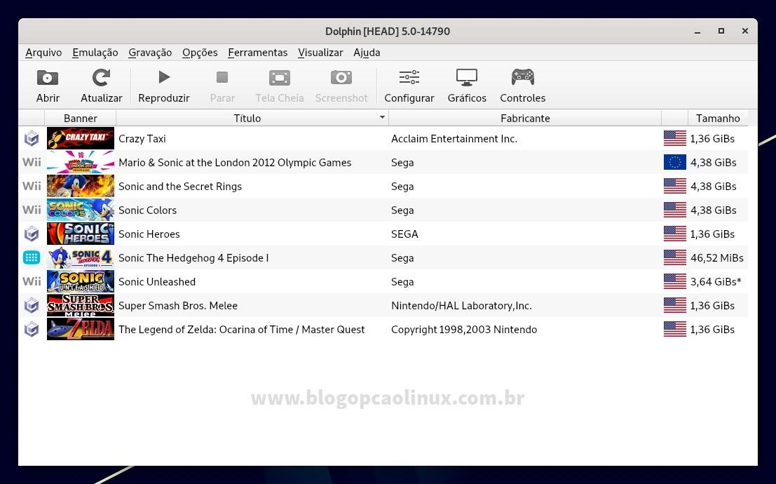 Dolphin Emulator executando no Debian 11 Bullseye