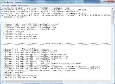 Combofix - Program pentru curățarea calculatorului