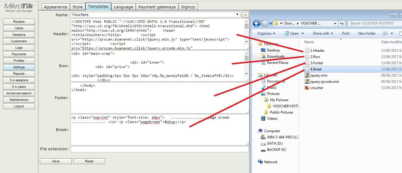Voucher Hotspot Mikrotik dengan QR Code Barcode - O-OM