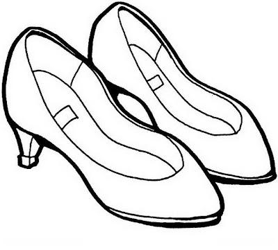 Zapatos De Tacón Para Colorear Dibujo Views
