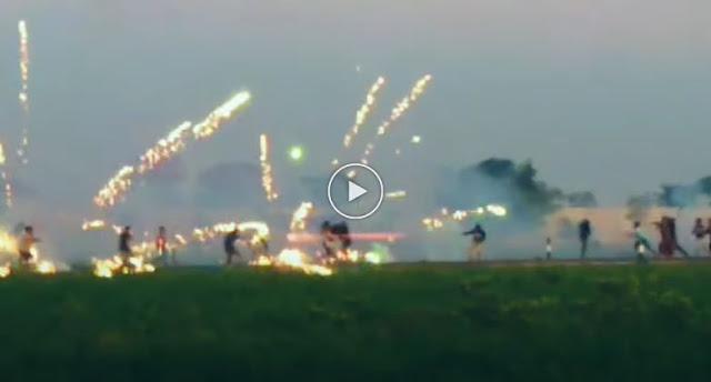 Viral Video Perang Petasan di Lombok Barat
