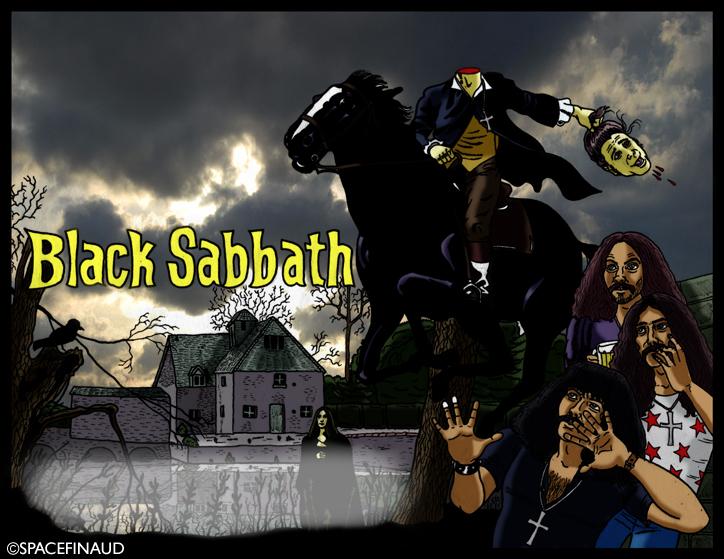Inspiré d'une vieille affiche de film d'horreur BLACK SABBATH, avec Boris Karloff et du premier album du groupe du même nom, j'ai trouvé l'idée intéressante.