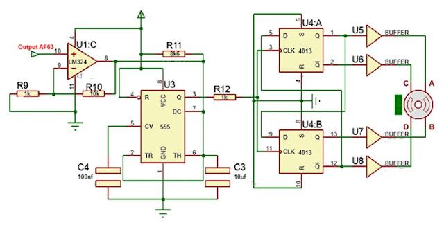 Implementasi sensor Gas AF63 dengan motor stepper