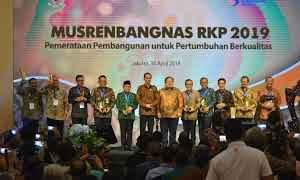 Pemkot Palembang  mendapatkan penghargaan peringkat ke 2 nasional Pembangunan Daerah tahun 2018