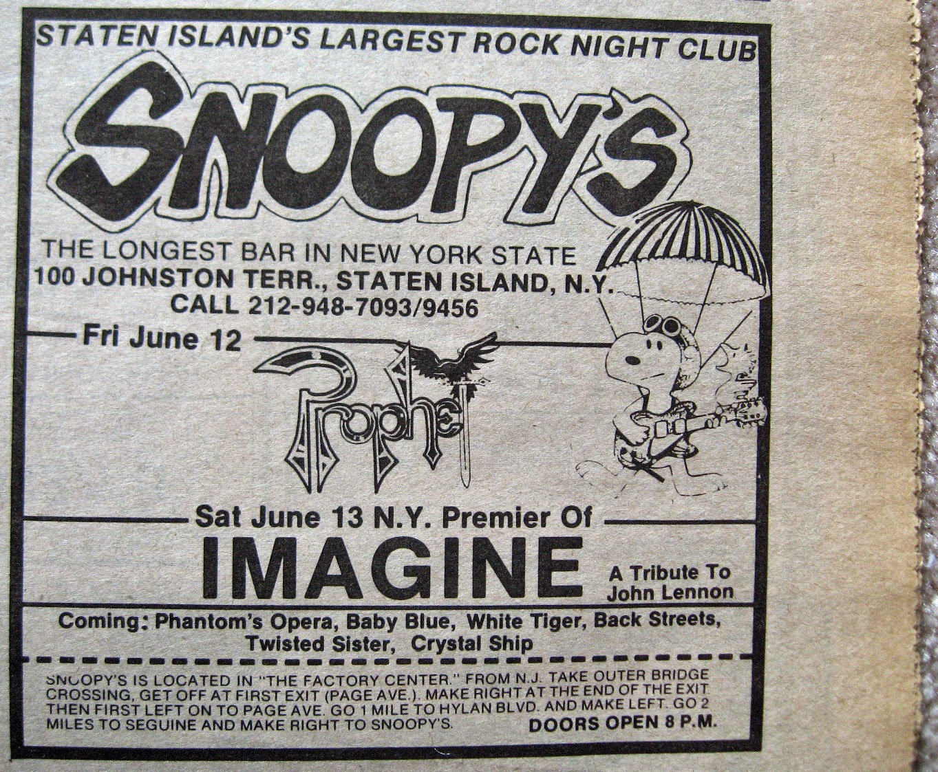 Snoopy's band line up 1981