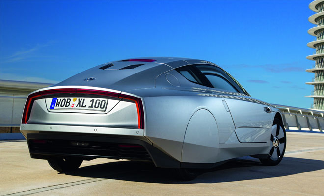 Volkswagen XL1 production car rear view