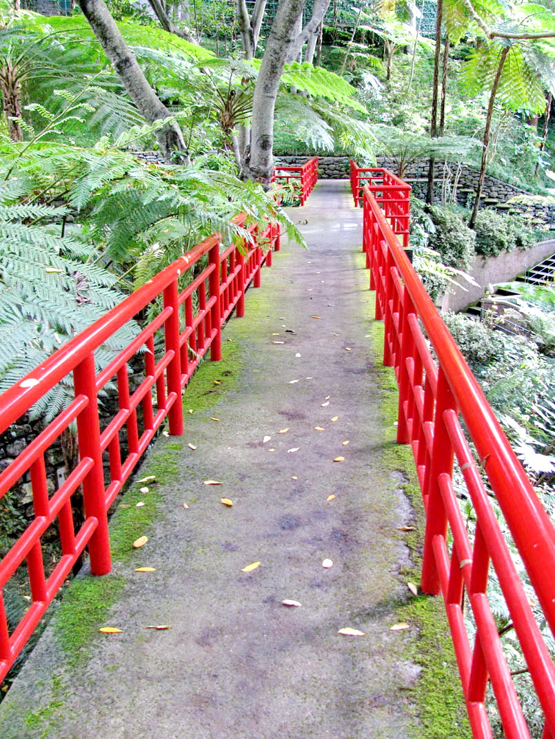 red bridge in Monte Palace