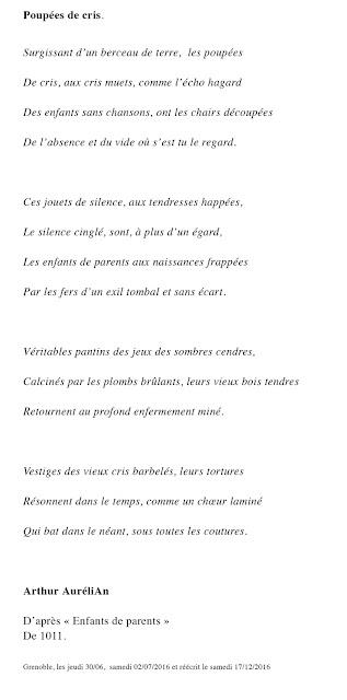 Poème d'Arthur Aurélien sur l'oeuvre Enfant de parents