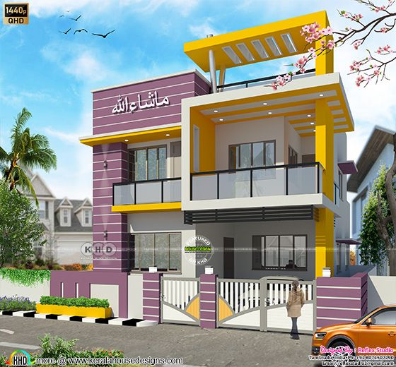 Tamilnadu House Elevation