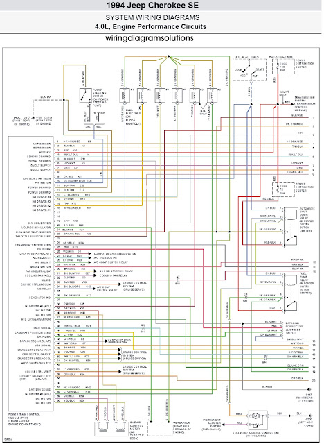 1994 Jeep Cherokee SE 40L System Wiring Diagrams