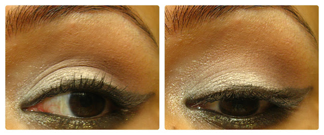 Maybelline Eye Studio Lasting Drama Gel Eyeliner in Brown & Gold : Review, Swatches and EOTD