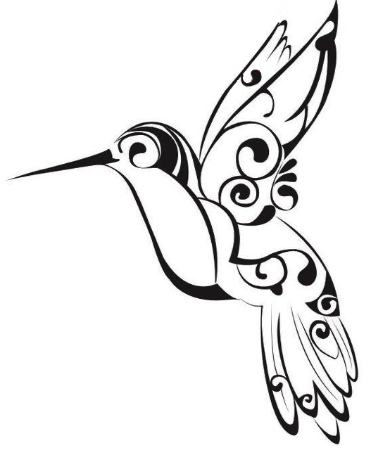 Tribal-Hummingbird-Tattoo-Stencil