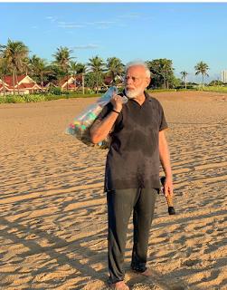 पीएम मोदी ने समुद्र तट पर की सफाई | Josforup Mamallapuram Beach