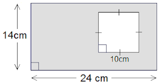 rectangle of length 24 cm and breadth 14 cm