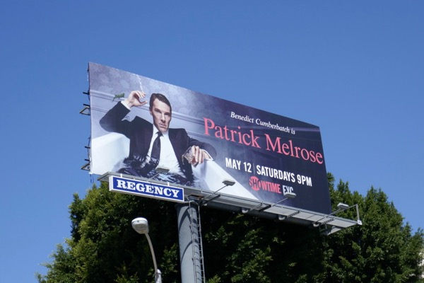 Patrick Melrose series launch billboard