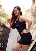 Actress and Model Ashwini in Beautiful Short Black Mini Dress ~  Exclusive 006.jpg