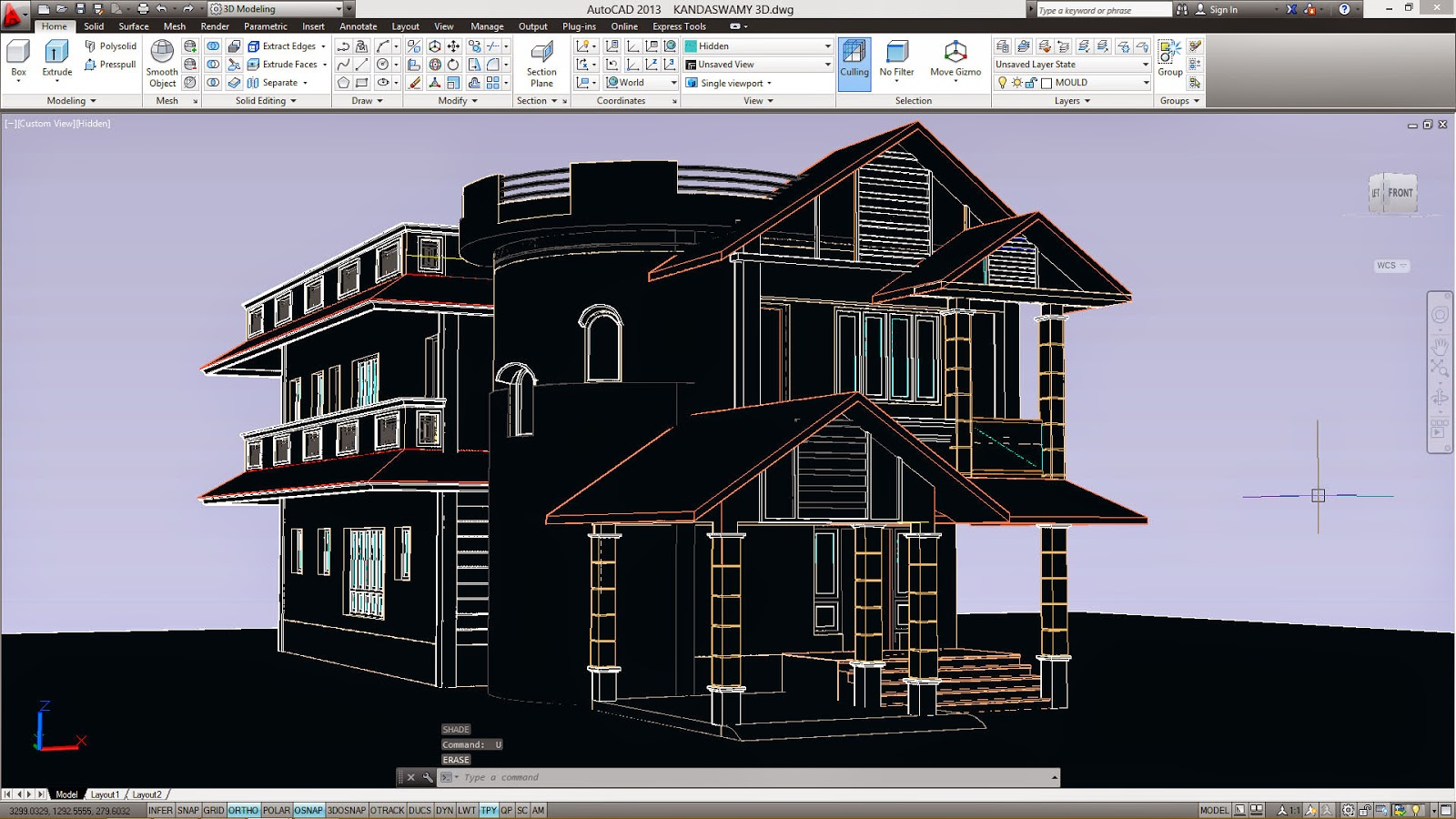 Project in auto cad