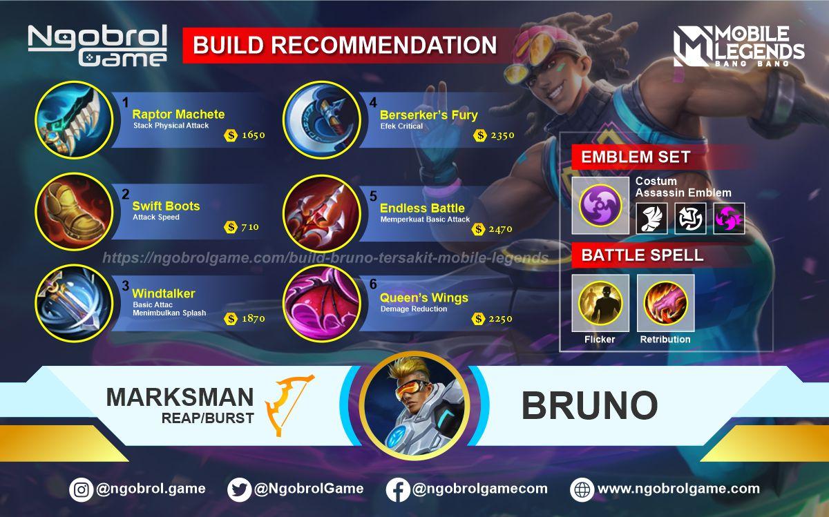 Build Bruno Tersakit 2021 Mobile Legends