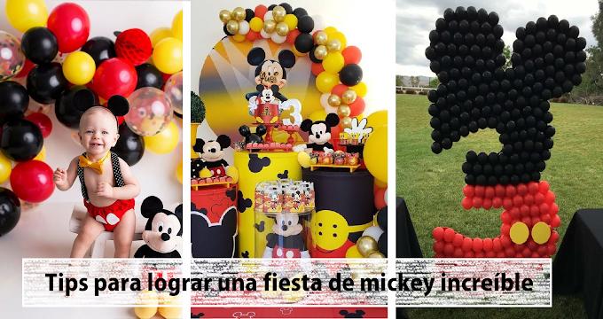 14 decoraciones e ideas que puedes hacer tu mism@ en casa para una fiesta de Mickey Mouse