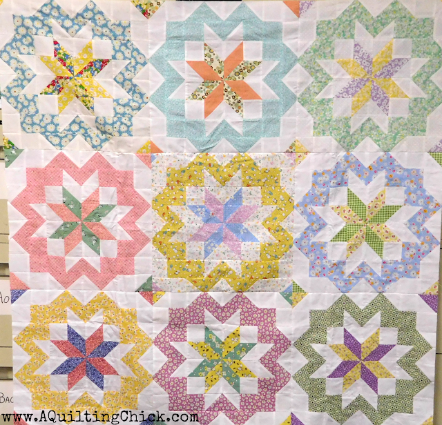 A Quilting Chick - Star Surround