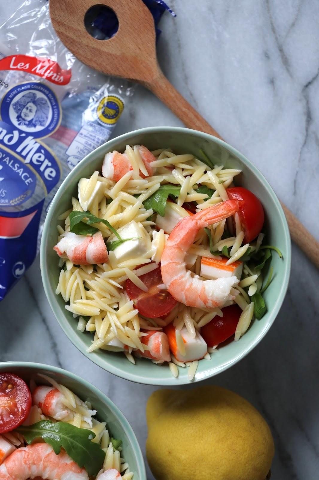 the cook time salade de p 226 tes aux crevettes