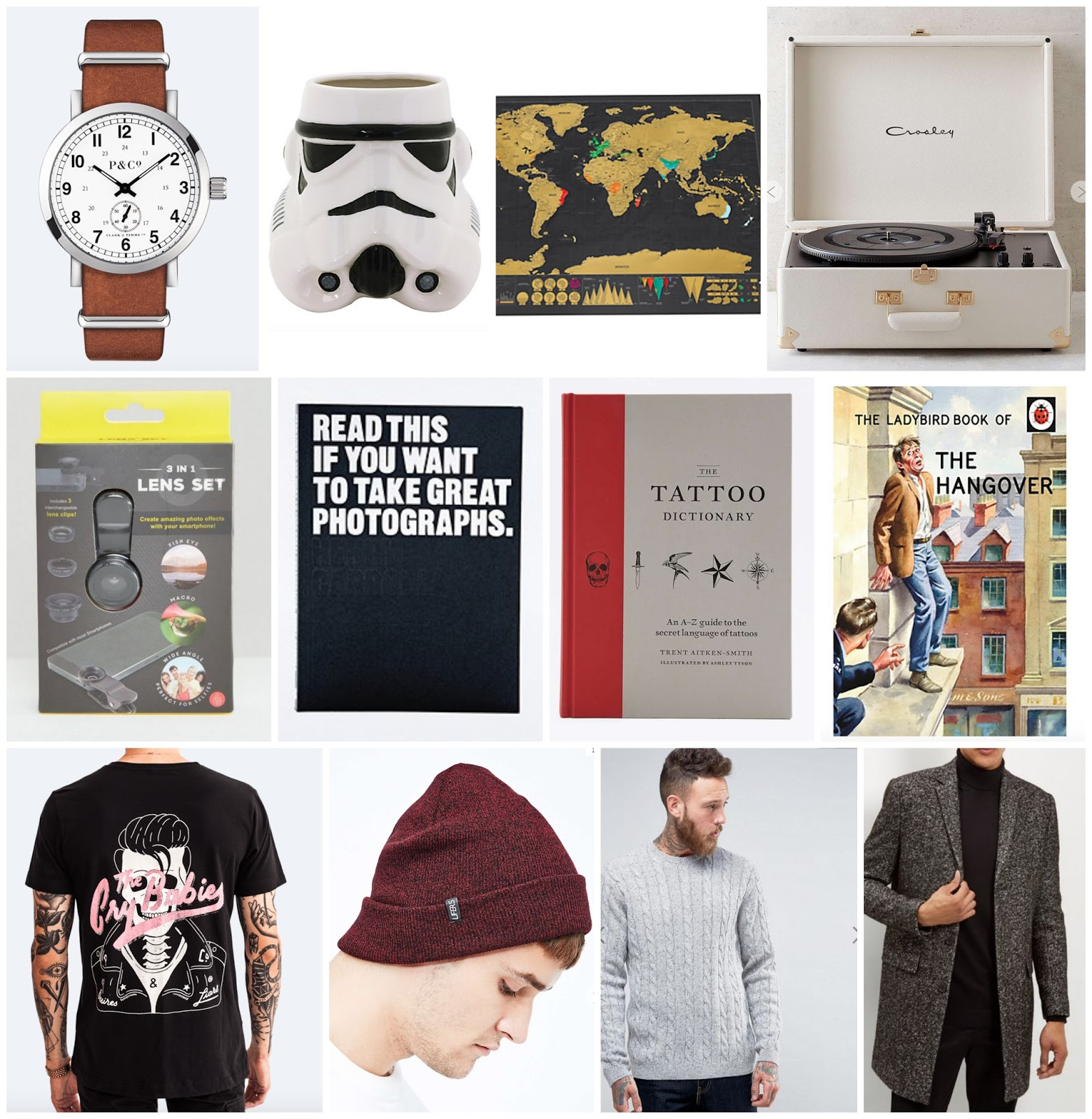 Mens Gift Guide (Listed Below)