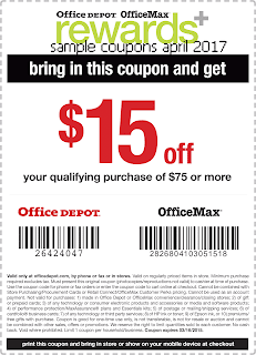 free Office Max coupons april 2017