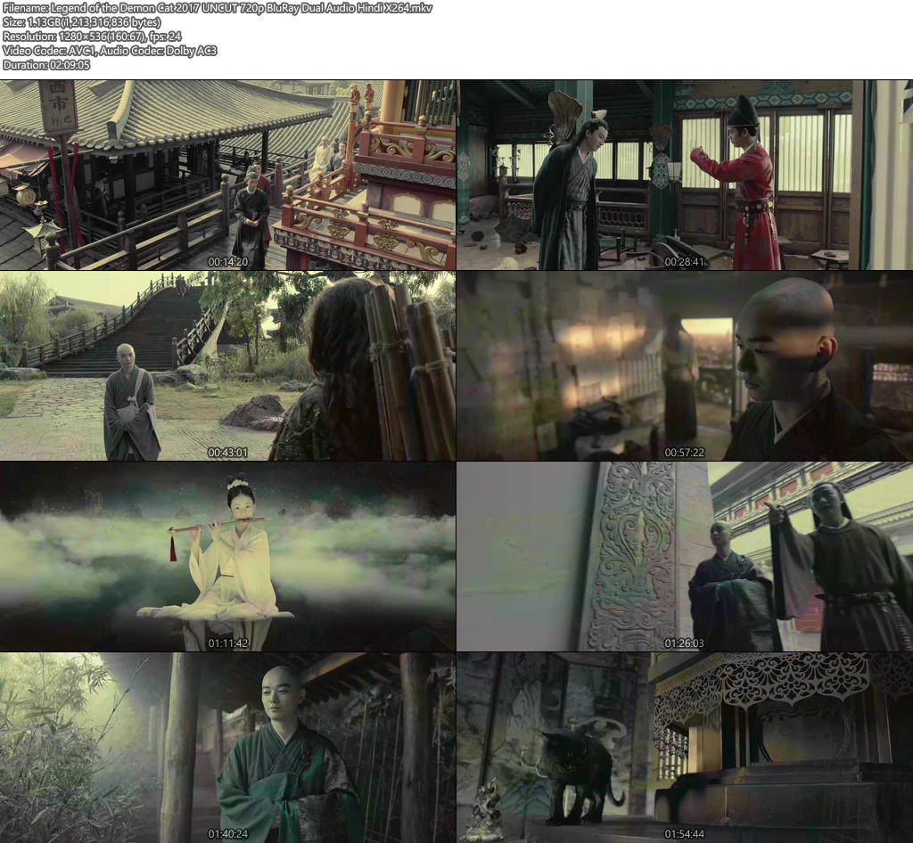 Legend of the Demon Cat 2017 UNCUT 720p BluRay Dual Audio Hindi China X264 | 480p 300MB | 100MB HEVC Screenshot