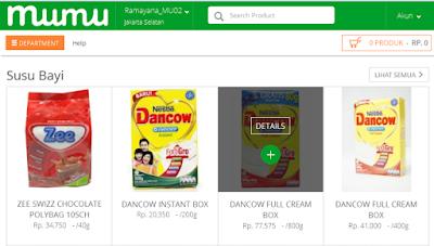 Membeli Makanan Bayi Di Toko Online Mumu