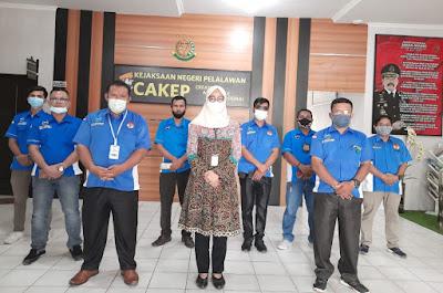 Kepala Kejaksaan Negeri Pelalawan Sambut Kedatangan Rombongan Pengurus IPJI