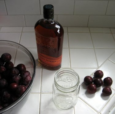 infusing bourbon with plums